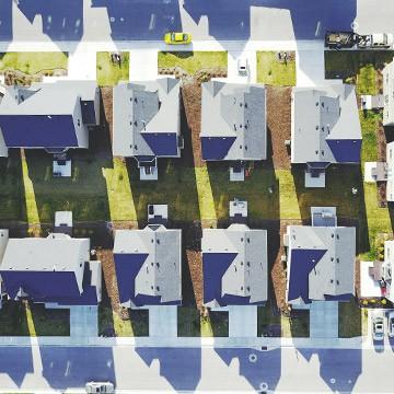 Landlord Insurance | Aerial Shot of Neighborhood